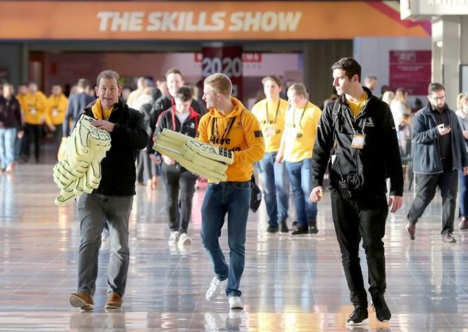 Skills show volunteer team leader