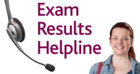 exam results helpline poster