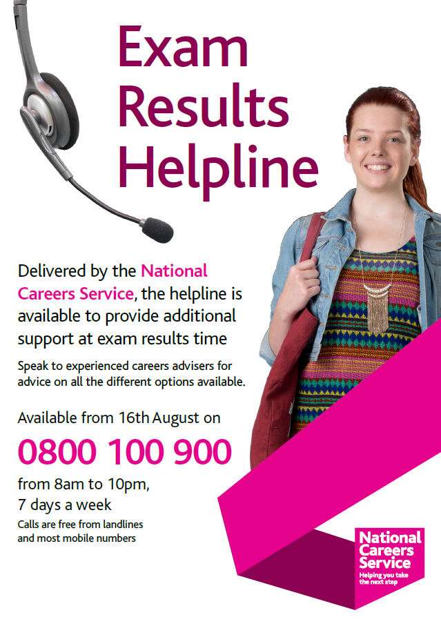 Exam results helpline poster png