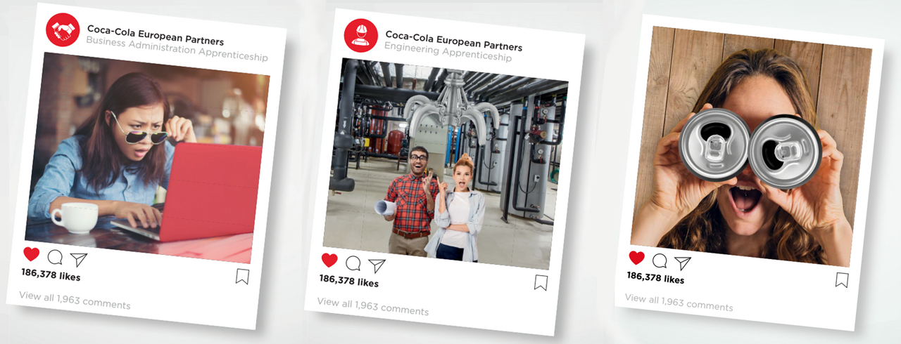 banner coca-cola european partners careers