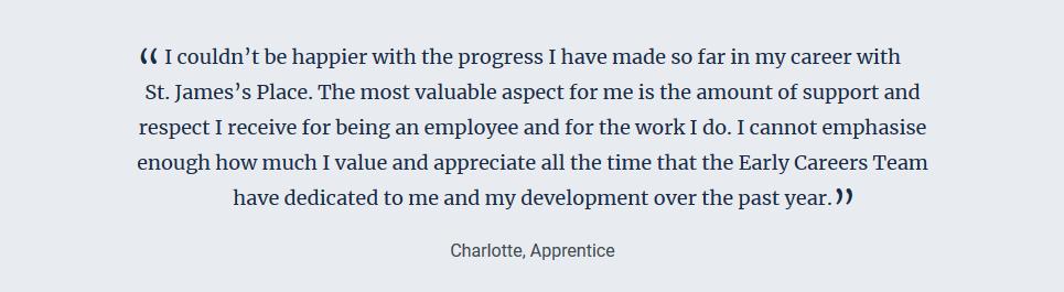 SJP quote Charlotte apprentice