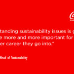 coca cola sustainability careers quote