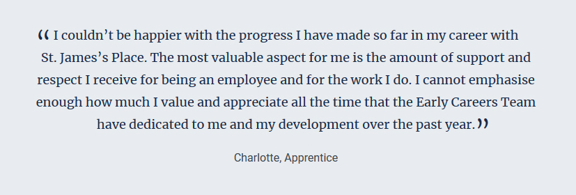 sjp st james's place quote apprentice charlotte